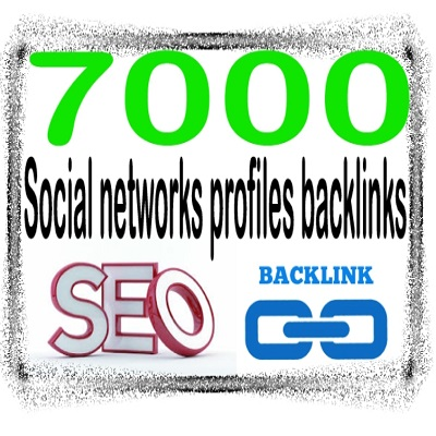 Create 7000 Social networks profiles – Highly Authorized Google Dominating Backlinks